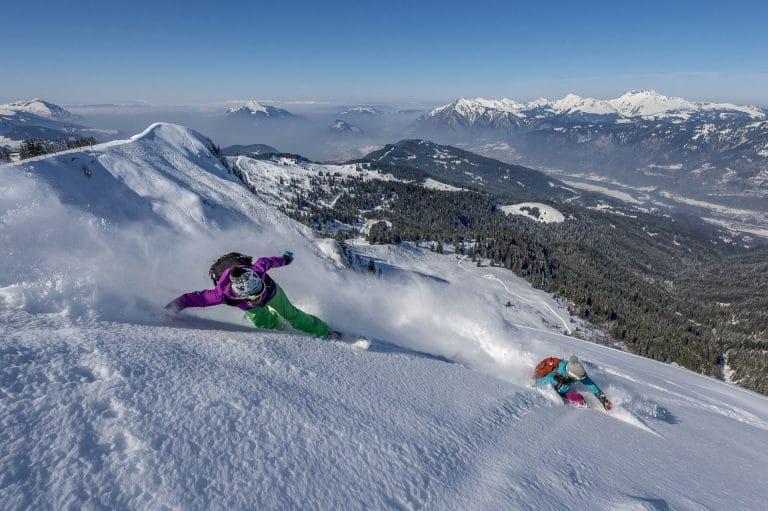Le domaine skiable en Haute-Savoie